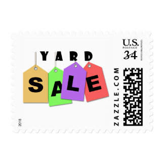 Yard Sale Announcement Stamps