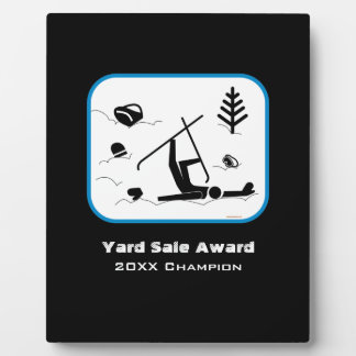 Yard Sale Award - Humorous Skiing Certificate Plaque
