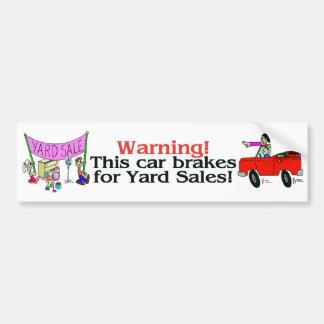 Yard Sale Bumper Sticker