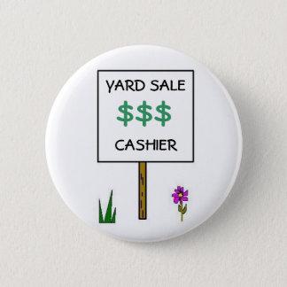 YARD SALE CASHIER - button
