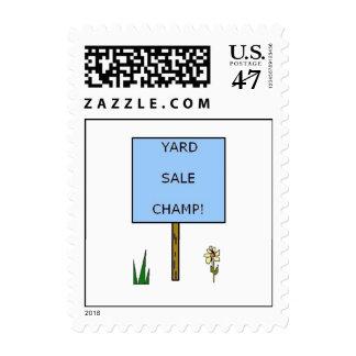 YARD SALE CHAMP - postage stamps