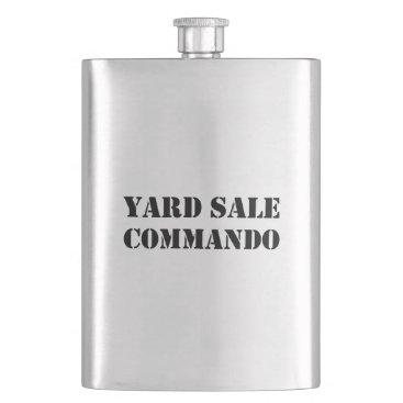 Yard Sale Commando Funny Flask
