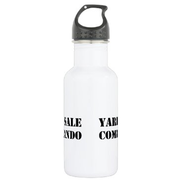 Yard Sale Commando Funny Stainless Steel Water Bottle