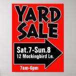 YARD SALE customizable poster