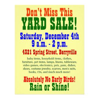 Yard Sale Flyers & Programs | Zazzle