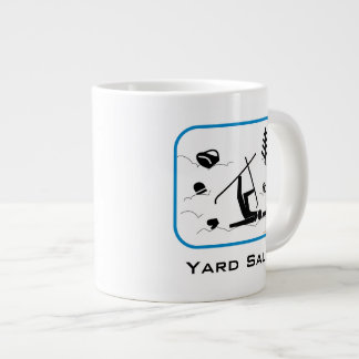 Yard Sale - Funny Skier Wipeout Design with Text Giant Coffee Mug