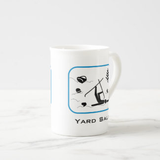 Yard Sale - Funny Skier Wipeout Design with Text Tea Cup
