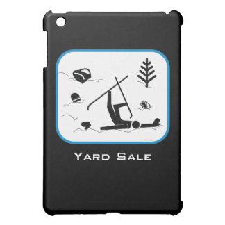 Yard Sale - Funny Skiing Design with Custom Text iPad Mini Case