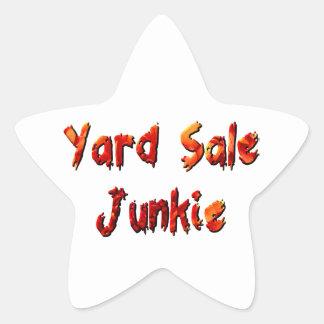 Yard Sale Junkie Star Sticker