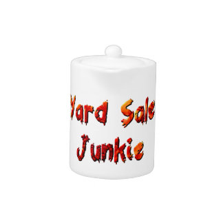 Yard Sale Junkie Teapot