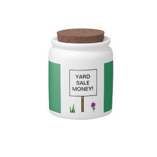 Yard Sale Money Jar Candy Dish
