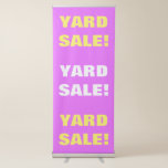 "[ Thumbnail: ""Yard Sale!"" Pink, Yellow & White Banner ]"