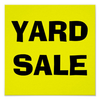 YARD SALE-Poster Sign