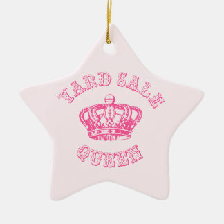 Yard Sale Queen Ceramic Ornament
