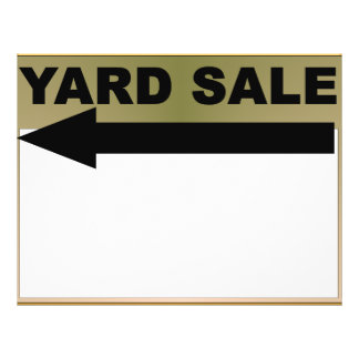 Yard Sale Sign Flyer