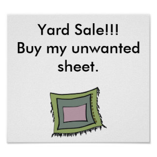 Yard sale sign posters