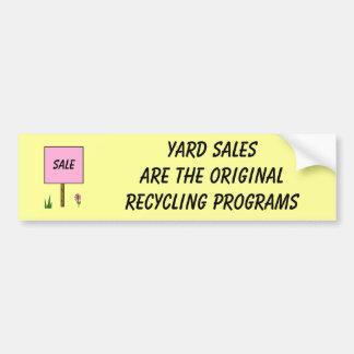 YARD SALES - bumper sticker