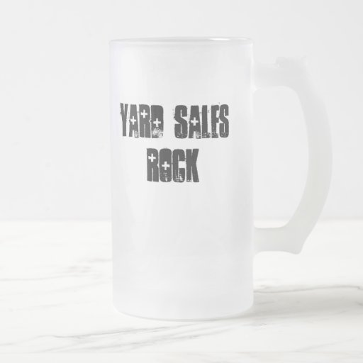 Yard Sales Rock 16 Oz Frosted Glass Beer Mug