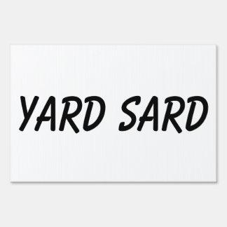 yard sard yard sign