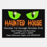 "Yard Sign - ""Haunted House"" - Orange Lettering"