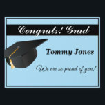 """Yard Sign-Medium Size-Graduation Lawn Sign<br><div class=""""desc"""">Yard sign perfect for your graduation party for the grad in your life. Customize this item, change the name to yours or add a year. Medium Size Shown.</div>"""