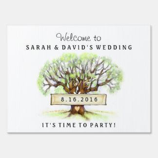 Yard Sign - Wedding - The Love Tree