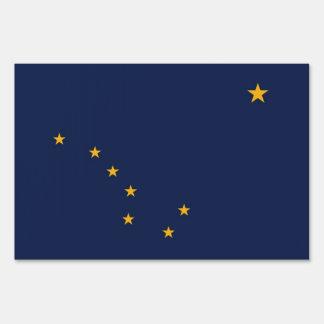 Yard Sign with flag of Alaska, USA