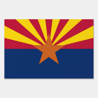 Yard Sign with flag of Arizona, USA