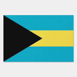 Yard Sign with flag of Bahamas