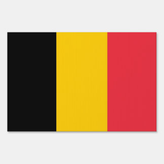 Yard Sign with flag of Belgium