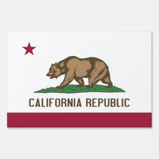 Yard Sign with flag of California USA