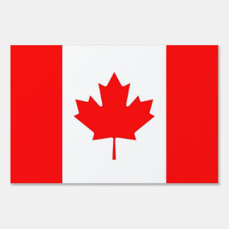 Yard Sign with flag of Canada