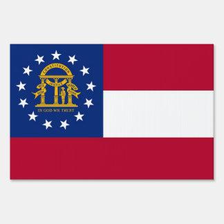 Yard Sign with flag of Georgia, USA
