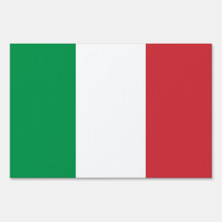 Yard Sign with flag of Italy