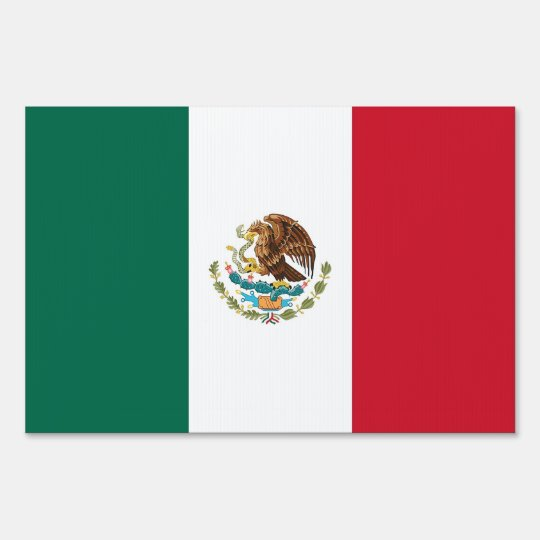 Yard Sign with flag of Mexico