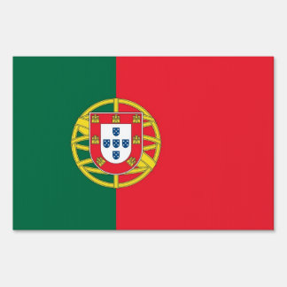 Yard Sign with flag of Portugal