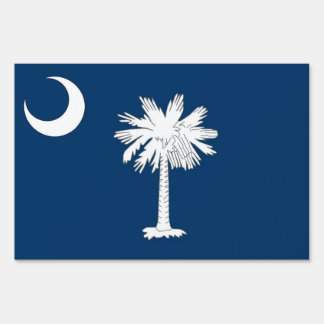 Yard Sign with flag of South Carolina, USA