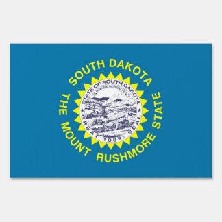 Yard Sign with flag of South Dakota, USA