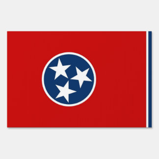 Yard Sign with flag of Tennessee, USA