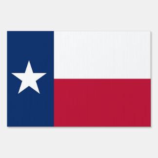 Yard Sign with flag of Texas, USA