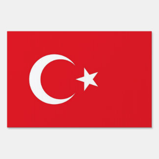 Yard Sign with flag of Turkey