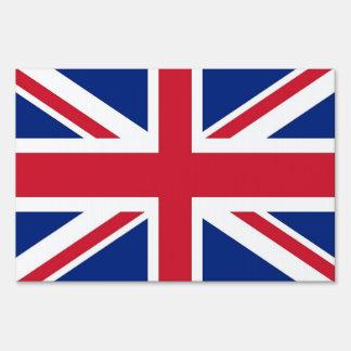 Yard Sign with flag of United Kingdom