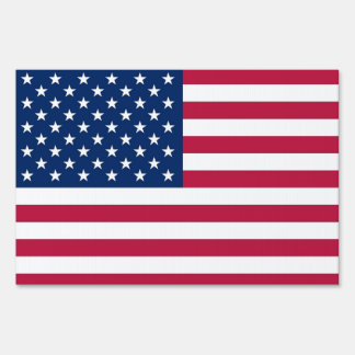 Yard Sign with flag of United States of America