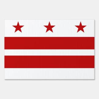 Yard Sign with flag of Washington DC, USA