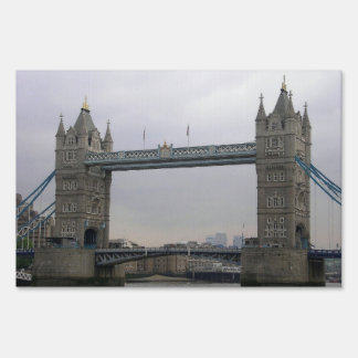 Yard Sign with Tower Bridge over the Thames River