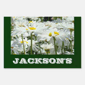 Yard Signs Add Your Family Name Daisy Flowers