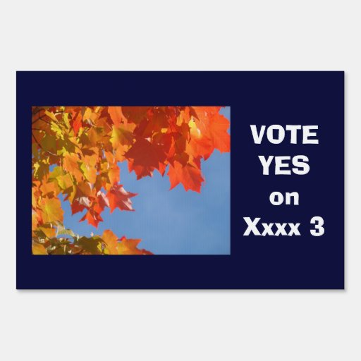 Yard Signs VOTE Yes VOTE No Measures Prop Voting
