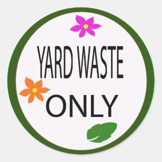 yard waste classic round sticker