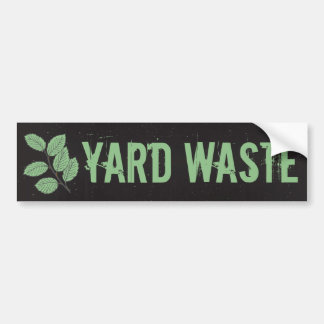 Yard Waste Garbage Trash Can Label Bumper Sticker