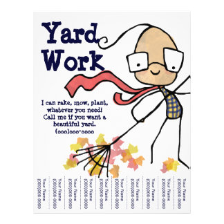 Yard Work Flyers Amp Programs Zazzle